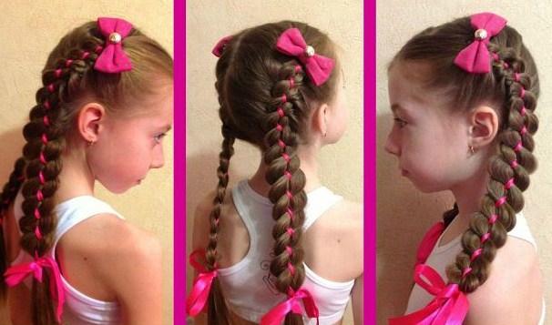 Коса плетение для детей